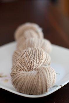 Handspun baby camel yarn (from Ravelry)