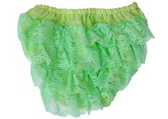 Lace Diaper Cover Baby Bloomer - Mint