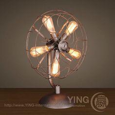 #Vintage #Lighting -Desk lamp: YLV-1807, Metal, 46 x 25 x 64 cm, 5 x E27 Edison Bulb Read more: http://www.ying-international.de/lighting/vintage-lighting/