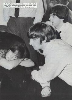 Paul McCartney, John Lennon, Ringo Starr. What can I say? Love the Beatles