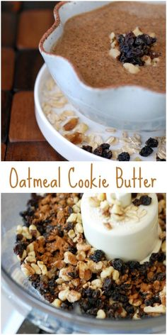 Get my recipe for Raisin Sweetened Oatmeal Cookie Butter it has no refined sugar and an option for no added oil!