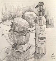 Pencil Drawings Of Kitchen Utensils - Best Of Pencil Drawings Of Kitchen Utensils , Sketchbook by Sarah Sedwick 6 20 16 Art Drawing Adrawingaday Pencil Sketch Drawing, Line Drawing, Pencil Drawings, Art Drawings, Still Life Drawing, Still Life Art, Sketchbook Inspiration, Art Sketchbook, Academic Drawing