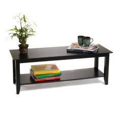 Convenience Concepts American Heritage Black Coffee Table | from hayneedle.com