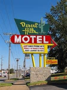 Desert Hills Motel. Route 66 - Tulsa, Oklahoma