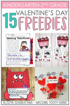 Valentine's Day Freebies for K-2 - Missing Tooth Grins