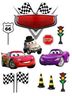 Cars Cake Ideas Mcqueen 24 Ideas For 2019 Car Themed Parties, Cars Birthday Parties, Baby Birthday, Minecraft Cake Toppers, Car Cake Toppers, Mc Queen Cars, Candy Car, Race Car Party, Car Themes