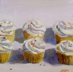cupcakes, wayne thiebaud style