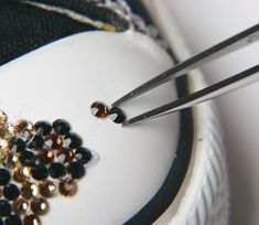 Bling up some converses by gluing on rhinestones!