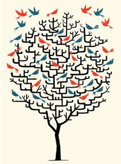Animal illustration by Oliver Lake
