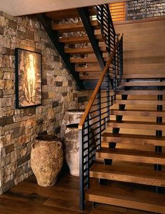 34 Easy And Simple Indoor Wood Stairs Design Ideas You Never Seen Before. Unique indoor wood stairs design ideas you never seen 40 unique indoor wood stairs design ideas you never seen Open Stairs, Metal Stairs, Concrete Stairs, Floating Stairs, Stone Stairs, Rustic Staircase, Wooden Staircases, Modern Staircase, Staircase Ideas