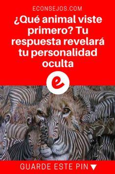 Personalidad psicologia | ¿Qué animal viste primero? Tu respuesta revelará tu personalidad oculta | Es realmente increíble. Freud Frases, Cool Lettering, Mind Games, Psychology, Thats Not My, Messages, Tips, Animal, Social