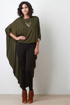 High-Low Poncho Top | UrbanOG