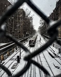 """An awesome Virtual Reality pic! """"Sometimes the wrong train can take us to the right place."""" .  #paulocoehlo #thealchemist #thejourney #everforward #trains #Winter #Brooklyn #nyc #nycstreetphotography #VirtualReality by virtue_elle check us out: http://bit.ly/1KyLetq"""