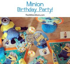 Great ideas for a Minion inspired birthday party, including pinatas, party favors, and cupcakes.