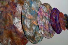 DIY mal moderne marmorering i flotte farver