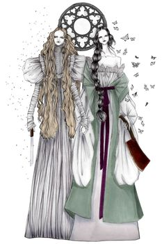 Crimson Peak fan art by ISSA GRIMM fashion illustration | design | style