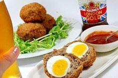"""London origin!Scotch egg cheering menu for Olympics"" - japanese recipe/ロンドン発祥 スコッチエッグ 五輪応援メニュー"