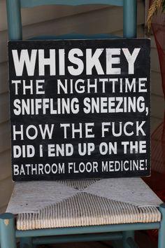 Whiskey lover sign man cave wall art bar wall decor funny