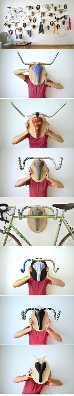 Hunting Trophies: Repurposed Vintage Bike Parts Converted into Functional…
