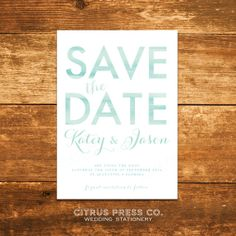 Save the Date watercolor card or postcard by CitrusPressCo on Etsy, $1.75