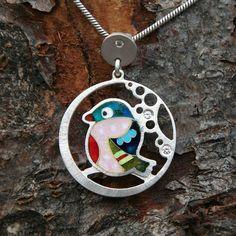 enamel bird pendant...pinned by ♥ wootandhammy.com, thoughtful jewelry.