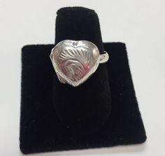 Vintage .925 Sterling Silver Locket Ring Size 6.75  | eBay