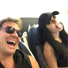 Look who's sitting next to me on the flight to #Narita!! Time for a 13 hour discussion about rocket science and global warming...or maybe just some whiskey & #YeahBoys! @realpaigewwe #JapanHereWeCome #TimeToCelebrateBeingAPartOfTheHottestShowOnTV @wwetoughenough