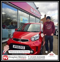 Mr Gosling collecting his new Picanto from Richard. Mr Gosling took advantage of our Boston United Season Ticket offer to get an additional £250 off the car! | by draytonkia
