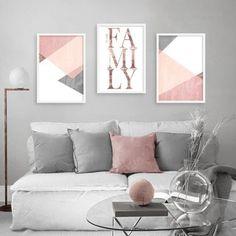 Simple Bedroom Decor, Cute Room Decor, Ikea Living Room, Living Room Decor Cozy, Home Design Decor, Home Decor, Decor Around Tv, Small Canvas Paintings, 3 Piece Wall Art