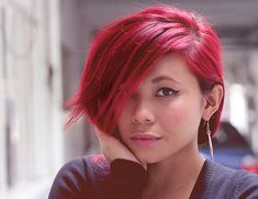 Bright+Candy+Red+Colored+Hair | Recent Photos The Commons Getty Collection Galleries World Map App ...