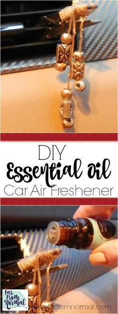 Take your favorite essential oil scents on the go! This is a super simple project and a great way to fragrance youc car with natural scents!