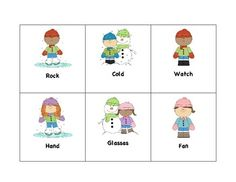 Free!  Multiple Meaning - Winter fun cards