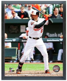 Nick Markakis 2014 Baltimore Orioles - 11 x 14 Photo in Glassless Sports Frame