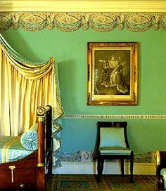 Victorian Era Paint ColorsI Love The Green And Gold Together