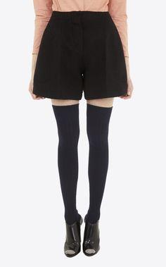 Wool short - Skirt & Short - Women Black Denim Shorts, Black Jeans, Winter Shorts, Carven, Short Skirts, Skater Skirt, Boutique, Wool, My Style