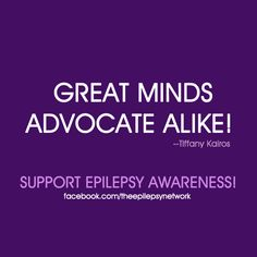 Great minds advocate alike! -- Tiffany Kairos