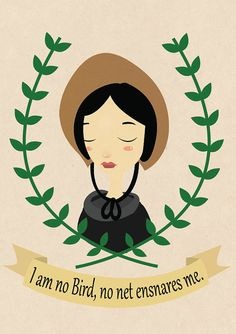 Jane Eyre quote and artwork by Stravaganza art.