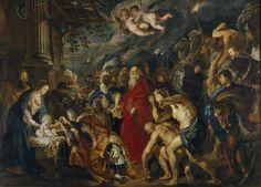 """""""La Adoración de los Reyes Magos"""", Rubens, 1609; 1628 - 1629"""