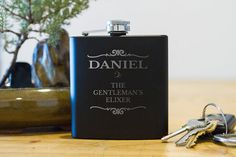 Personalized flask  groomsman flask  best man by FactoryEnova