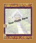 Floral Pattern with Purple Border Photo Throw