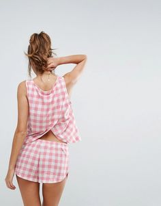 Shop our collection of clothes, accessories, beauty & Pajamas For Teens, Pajamas Women, Cute Comfy Outfits, Cute Summer Outfits, Satin Pyjama Set, Pajama Set, Cozy Pajamas, Pyjamas, Cute Sleepwear