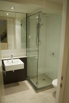 Custom Small Bathroom With Shower Compartment