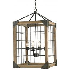 Cage Box Chandelier