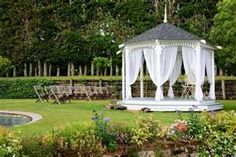 A gazebo awaits a happy couple and their guests...
