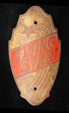Bicycle Head Badges from amaericancyclery.com - Flying Star