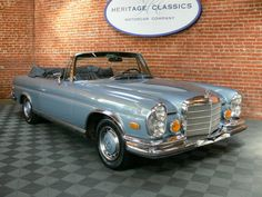 1970 Mercedes-Benz Low Grill Cabriolet - Image 1 of 36 Mercedes Benz Coupe, Mercedes Maybach, Vintage Cars, Antique Cars, Convertible, Mercedez Benz, Classic Mercedes, Old Cars, Luxury Cars