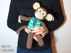 Hama Style & Amigurumis: Mono con chaleco - Amigurumi [PATRÓN GRATIS]