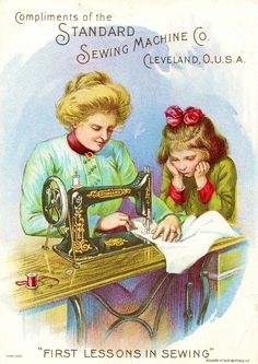 I had a request from a friend to do SEWING / NEEDLEWORK tonight.  So let's look for art, illustrations and vintage advertisements.  Thank you!!: