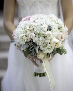Ivory and Blush Bridal Bouquet | Graddy Photography | TheKnot.com