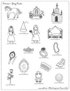 CreKid.com - FREE Story Rocks Printouts - Princess Story Rocks - Spark your child's imagination and creativity. Preschool - Pre K - Kindergarten - 1st Grade - 2nd Grade - 3rd Grade. www.crekid.com